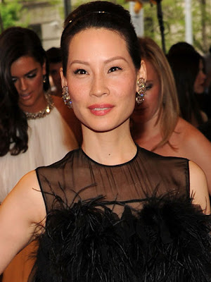 Lucy Liu Dangling Gemstone Earrings