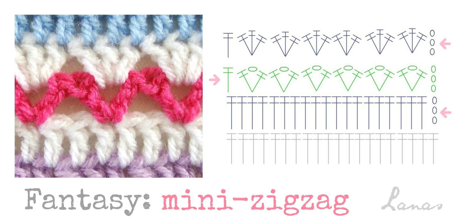 Lanas de Ana: Fantasy Blanket: Mini-Zigzag (IV)
