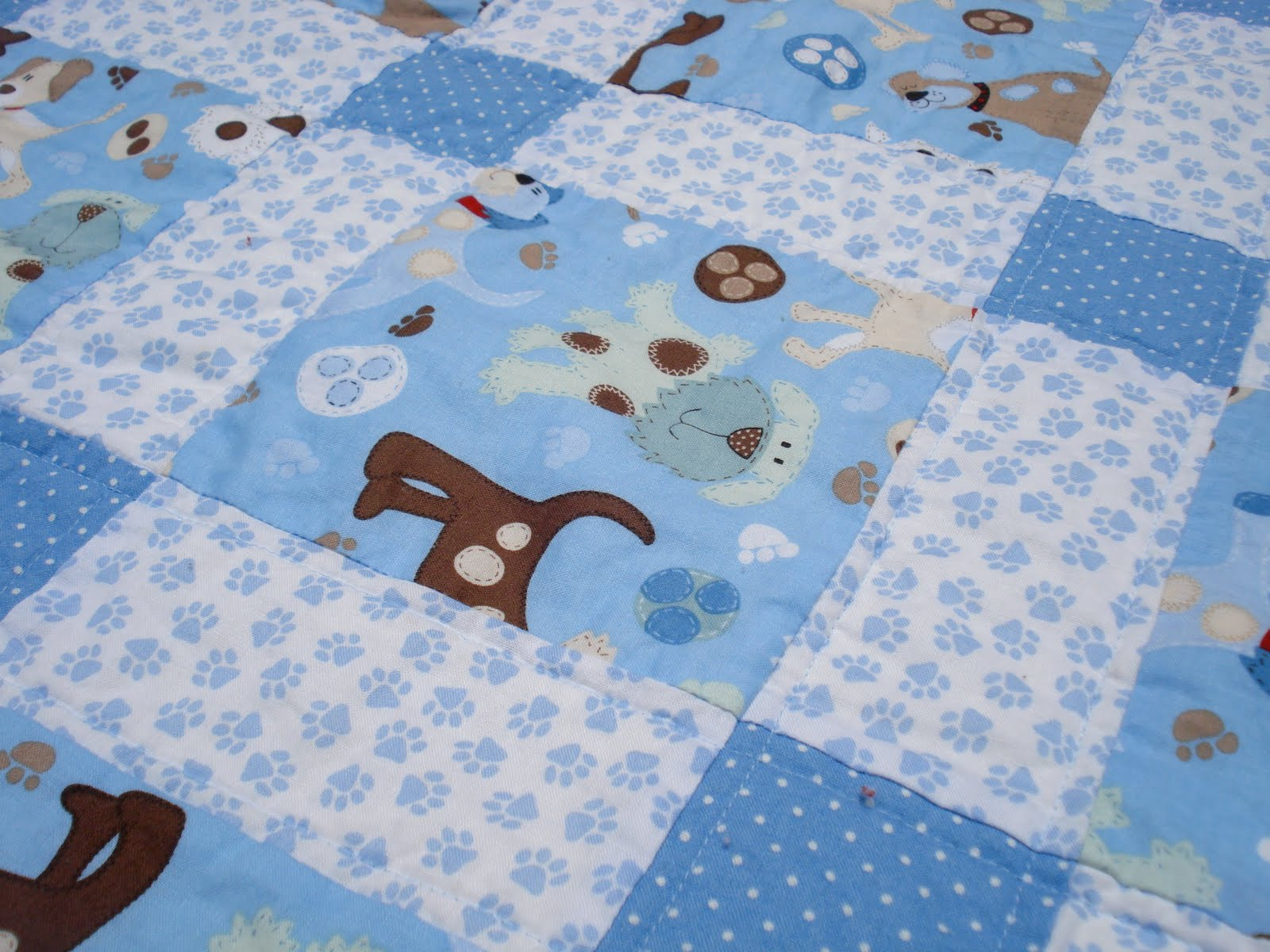 Two tiny birds a quilt for my baby boy for Cute baby fabric prints