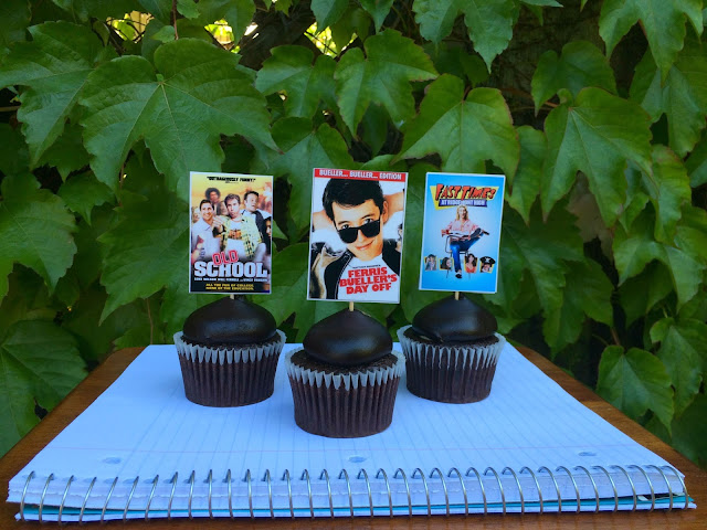 Back to School Movie Poster Cupcakes - www.jacolynmurphy.com