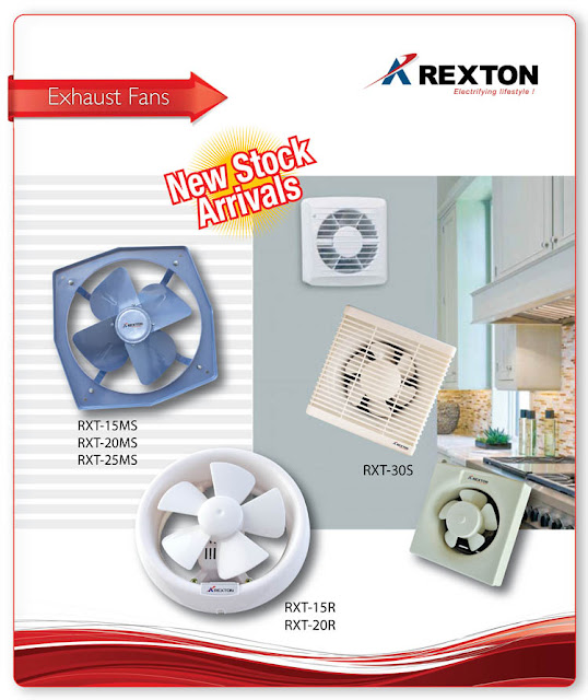 Ventilation and Exhaust fans from Rexton Technologies