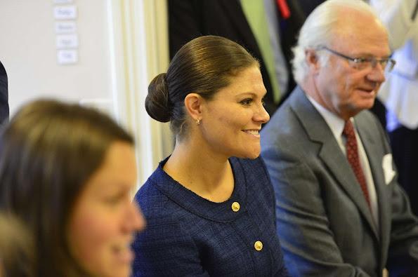 King Carl Gustav of Sweden and Crown Princess Victoria of Sweden visited Swedish Migration Board in Restad farm in Vanersborg Uddevalla