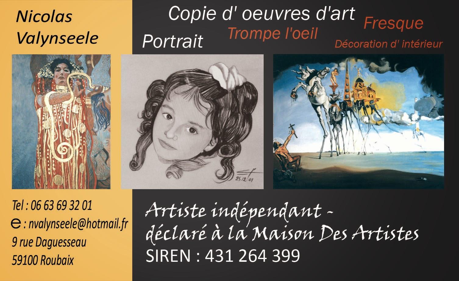 Artiste Indpendant Depuis 2000 Dclar La Maison Des Artistes Nicolas A Fait Ses Tudes LERSEP De