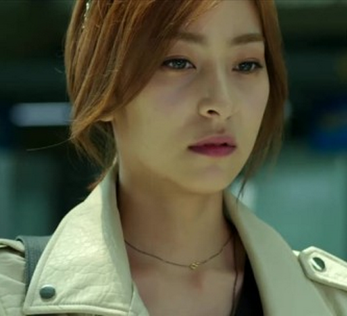 """Fated to love you, You're my destiny"" Kang Sera's (Wang Ji Won) Meloz Initial   BlackSilver Necklace"