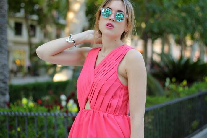 Pink dress for spring