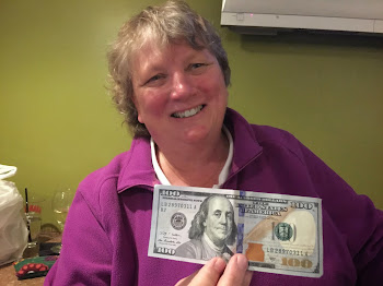 Nancy Henry Donates $100 for Dog Park