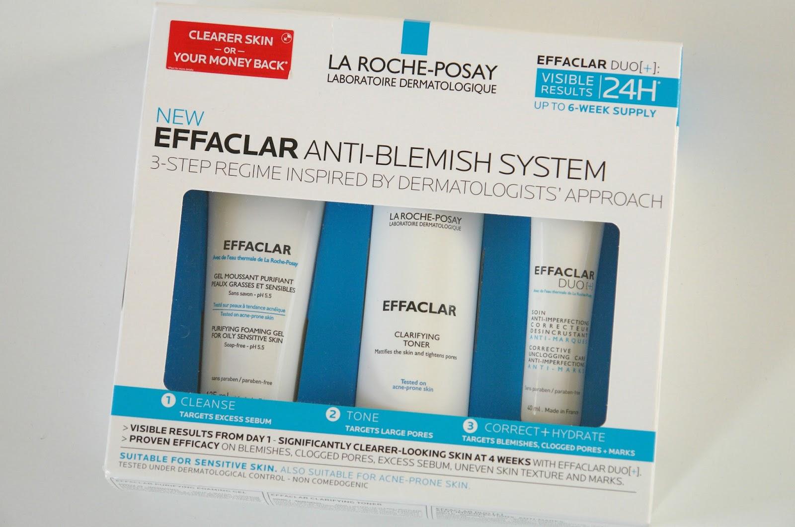 La Roche-Posay Effaclar Anti-Blemish System review, beauty, review, skincare, blogger, La Roche-Posay Effaclar Purifying Gel Cleanser, La Roche-Posay Effaclar Clarifying Toner,  La Roche-Posay Effaclar Duo [+] Anti-Blemish Cream