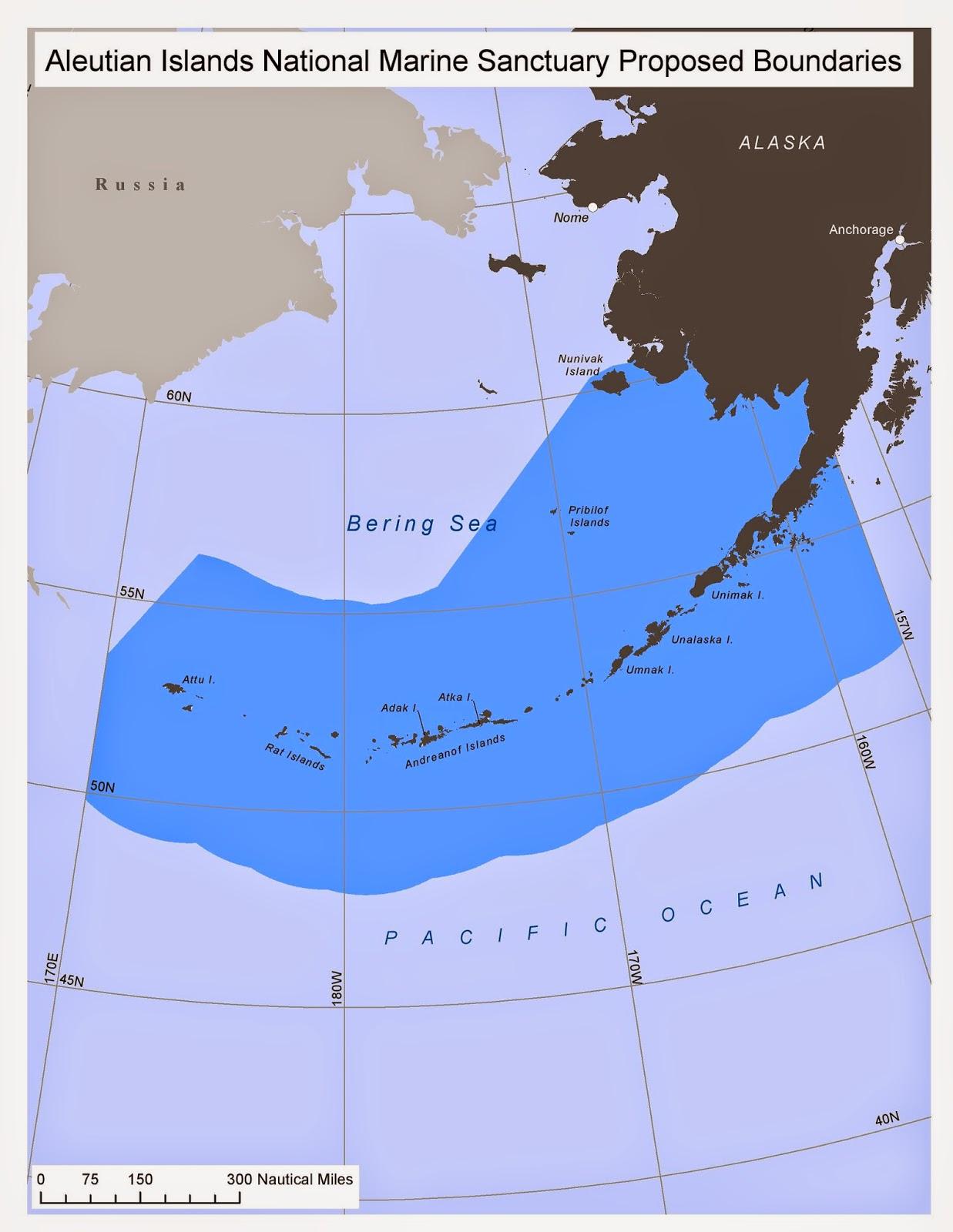 vast aleutian marine sanctuary proposed