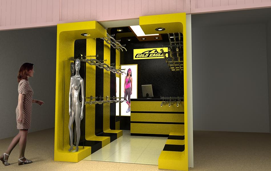 Dise o y construccion de local venta de ropa fitness for Diseno de ropa