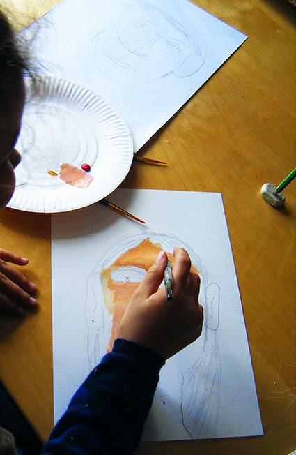 dessin et peinture  u00e0 l u0026 39  u00e9cole  le portrait  ateliers du