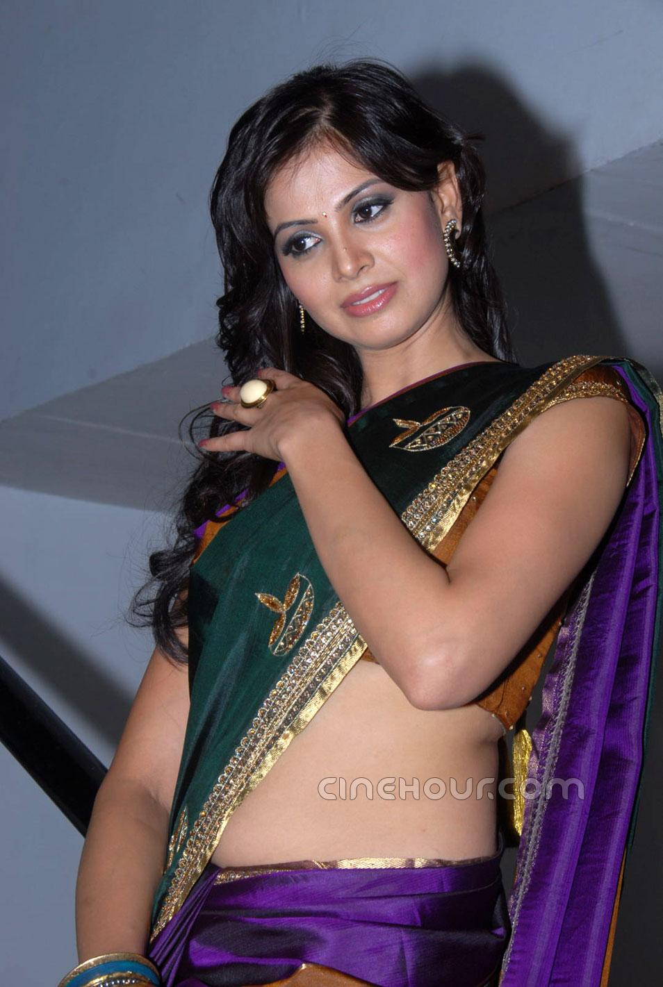 Supriya Shailja Hot in Saree1 - Supriya Shailja Hot Pics in Saree at Rushi Audio Launch