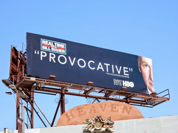 Real Time Bill Maher Provocative Emmy billboard