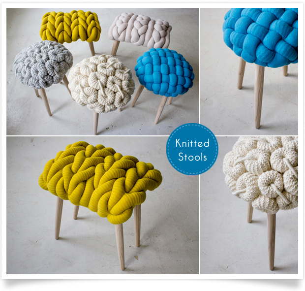 Claire-Anne O'Brien knitted stool