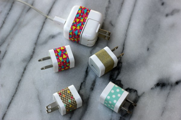 washi tape cord organizer