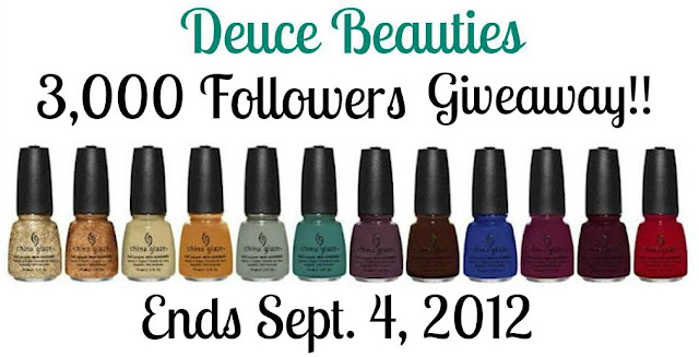 Deuce Beauties&#39;s 3000 Followers Giveaway