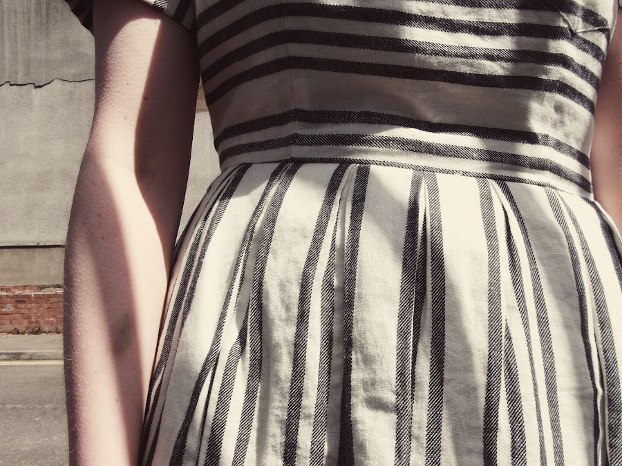 madewell stripe dress