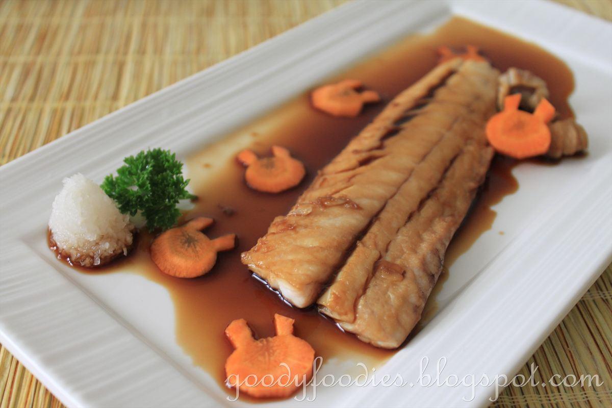 Goodyfoodies recipe simmered karei flounder ikan for Japanese fish recipes