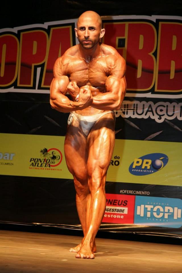 Jefferson competiu na categoria Fisiculturismo Sênior até 70 kg Foto: Alan Caetano
