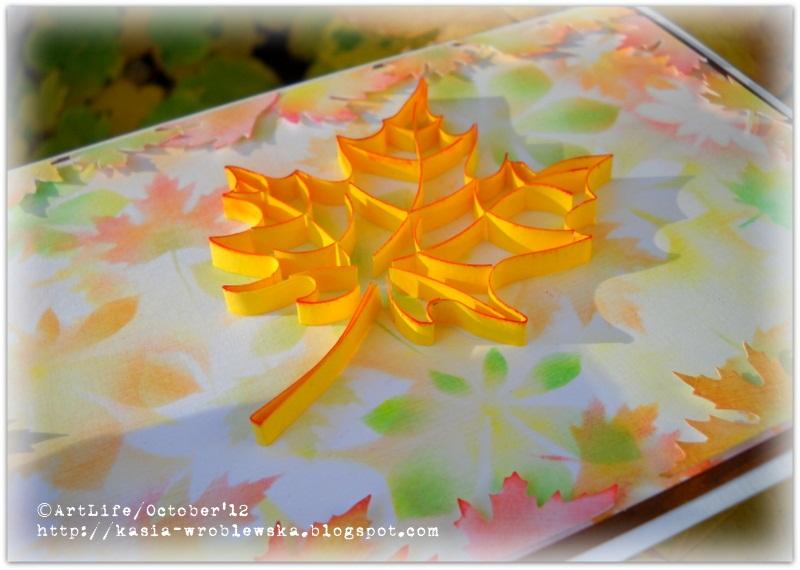 Осенний листок из макарон своими руками для детей