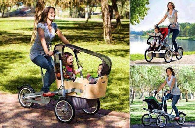 objetos de diseño, bicicleta, porta bebés