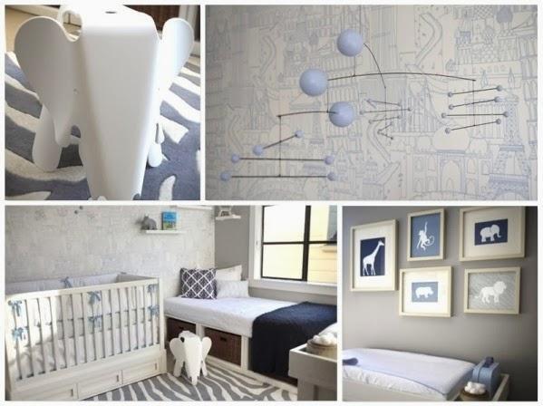 KIDS Arquitetura para Pequenos Quartos de Bebê para  ~ Quarto Safari Moderno