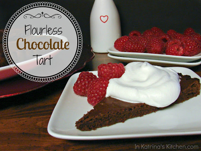 Flourless Chocolate Tart @katrinaskitchen