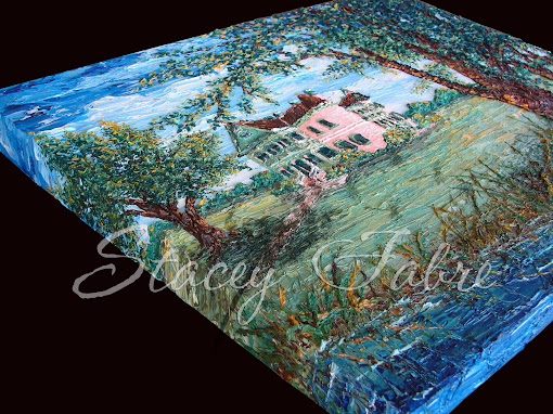 Southdown Plantation painting with a gallery wrapped edge.