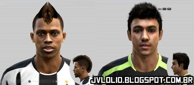 Face de André e Face de Renan Ribeiro Ambos do Atlético Mineiro para PES 2012 Download, Baixar Faces de André e Renan Ribeiro para PES 2012