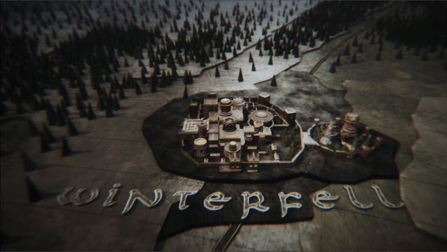 Winterfell is currently embroiled in a feud with the neighboring kingdom of Normanfell, ruled by King Stanley Roper, who keeps mugging in front of an unseen camera for some reason.