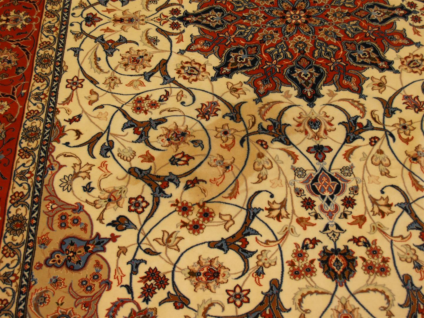 Rug Master Tea Stain Removal Isfahan