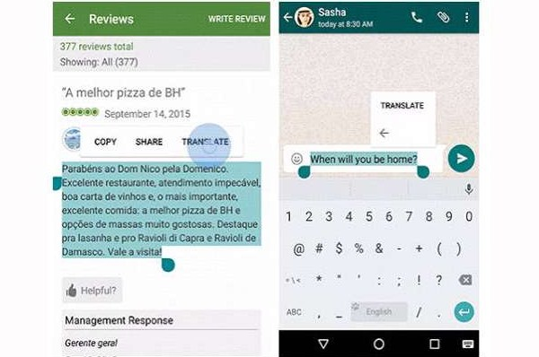 Google Translate Simplify Update Accept Message of Foreign Languages
