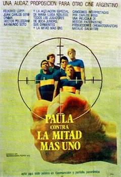 Afiche de 'Paula contra la mitad más uno'