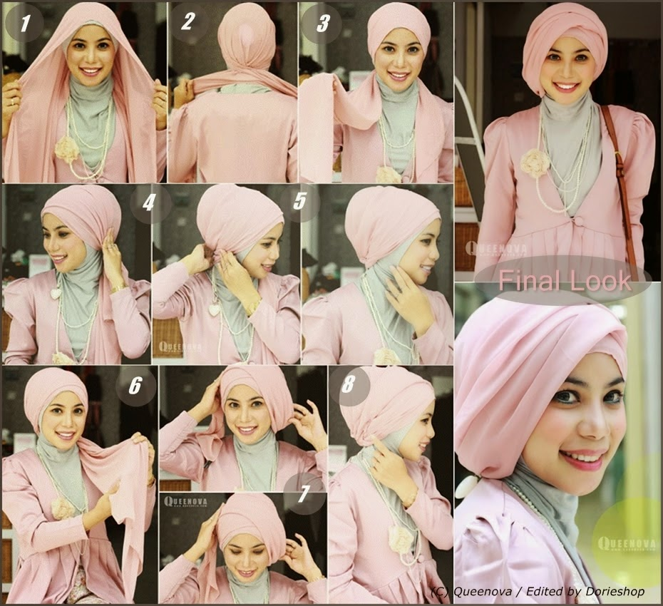 10 Tutorial Hijab Pesta Simpel Tapi Elegan