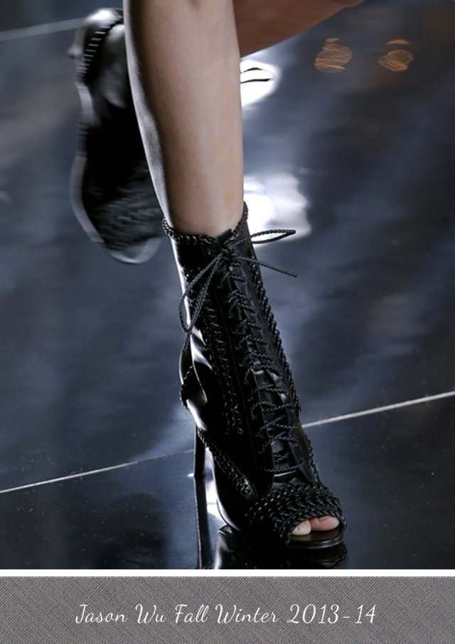 Jason Wu peep toe boots from Fall Winter 2013-14
