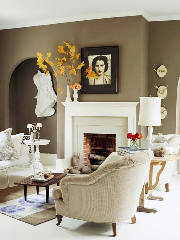 decoracion chimenea otoo