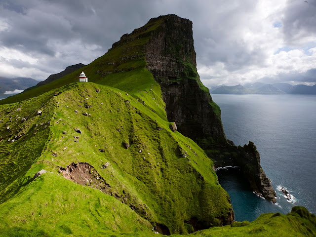 amazing, view, wallpaper, landscape, faroe island, denmark, norway, kalsoy, lighthouse