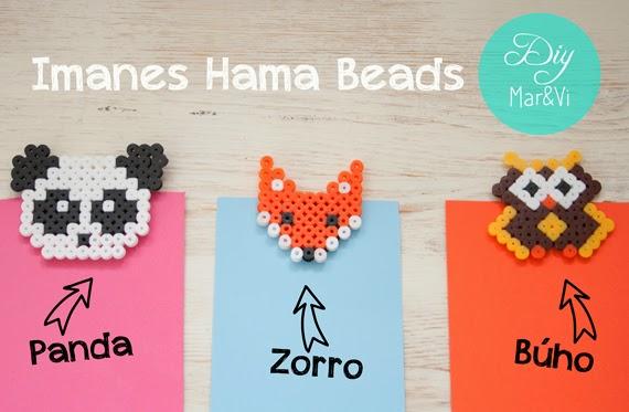 Hama Beads: imanes DIY