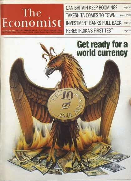 "The Economist, January 9, 1988, ""Get ready for a world currency"""