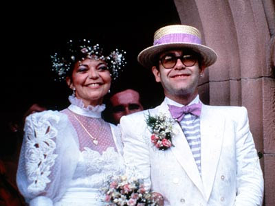 Sir Elton John and Renate Blauel Wedding