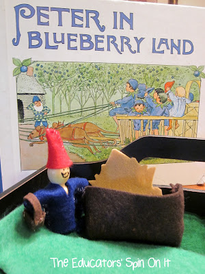 blueberry book and activities featuring sewing activity from the Educators' Spin On It
