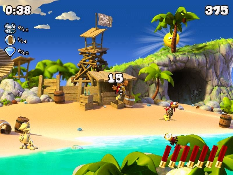 Crazy Chicken Pirates gameplay
