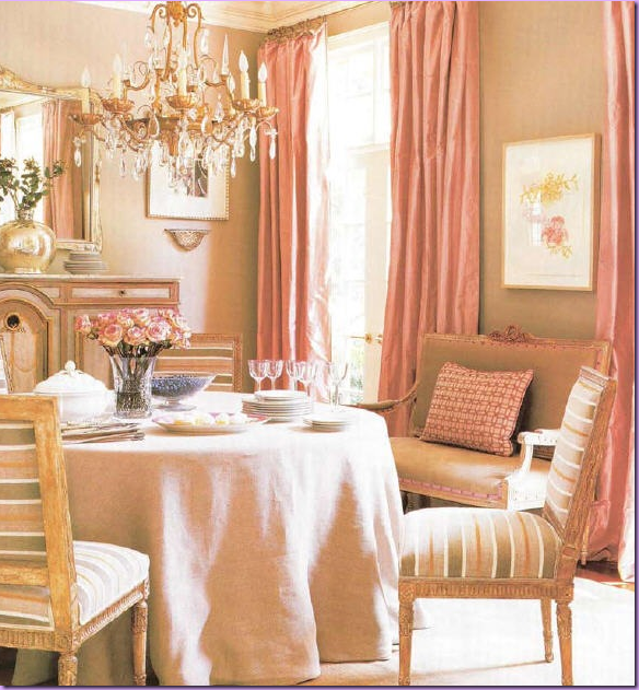 Pink dining room minimalist home design minimalist - Pink and gold living room ...