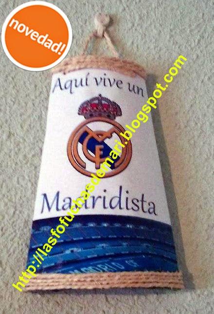 Tejas decoradas y personalizadas - Escudo Real Madrid