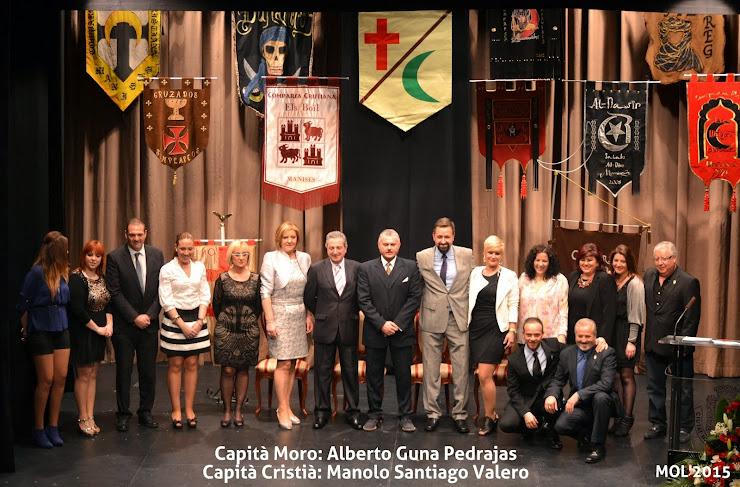 MOROS I CRISTIANS 2015, CAPITANS