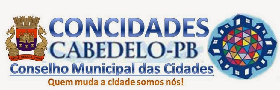 CONSELHO MUNICIPAL DAS CIDADES, CABEDELO, PB