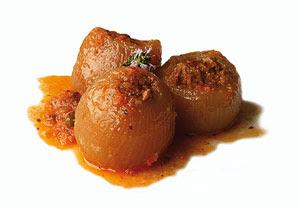 Cebollas Rellenas, recetas de cocina, recetario