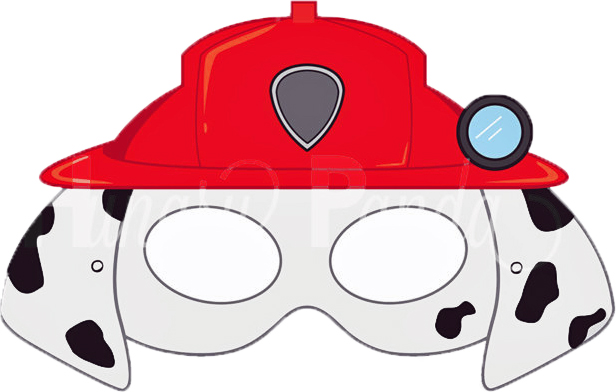 Dynamite image with paw patrol printable masks