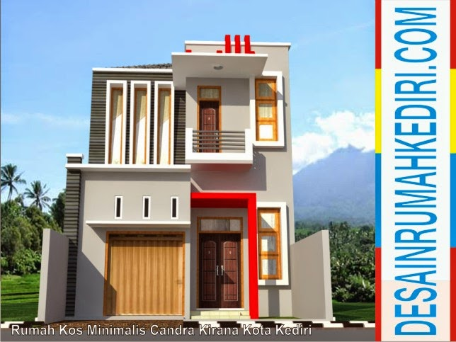 Perspektif 3D T&ak Depan Rumah Kos & LT2-09 : Rumah Kos Minimalis Candra Kirana Kota Kediri | Jasa desain ...