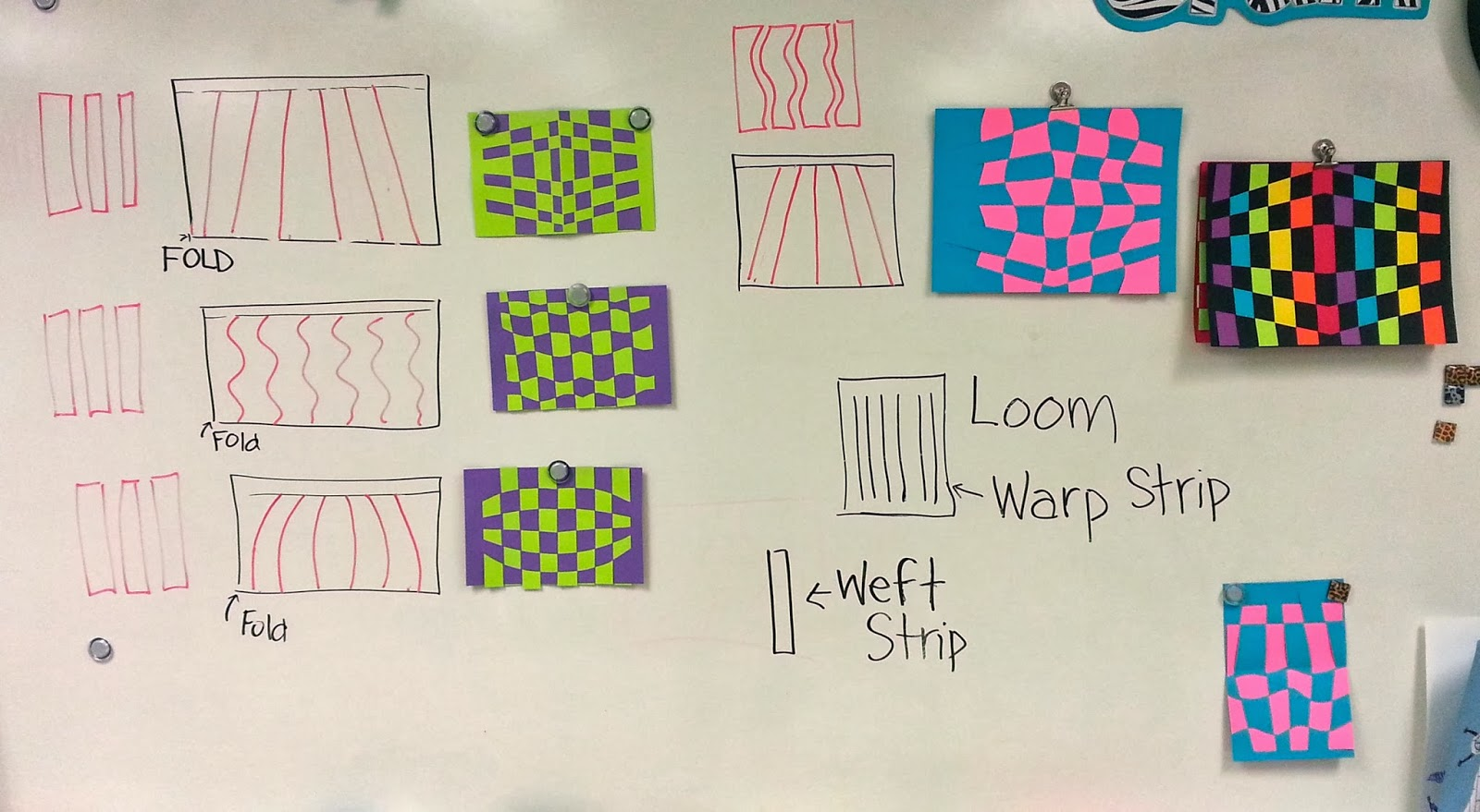 Op Art Line Design Lesson : Op art paper weaving rd and th with mrs nguyen
