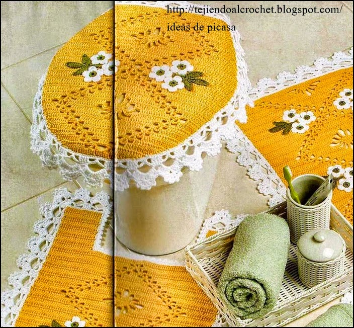 Accesorios tejidos a crochet para baño - Imagui